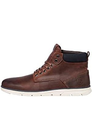 JACK & JONES JFWTUBAR Leather STS, Chukka Boots Hombre, (Brandy Brown Brandy Brown)