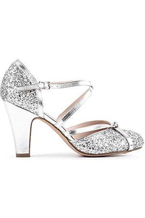 Paradox London Pink Fifi, Zapatos de tacón con Punta Cerrada Mujer, Silver (Silver 40)