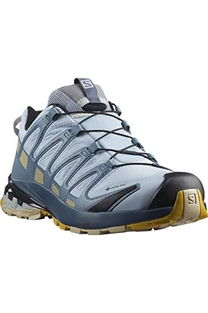 Salomon XA PRO 3D V8 GTX Zapatillas De Trail Running Senderismo Mujer, (Kentucky Blue/Dark Denim/Pale Khaki)