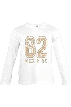 Supportershop – Camiseta Color Manga Larga 82 Mix and Co niño, T-Shirt Enfant Blanc Manches Longues 82 Mix and co