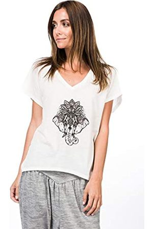 Supernatural Super.natural W JONSER LS Printed - Camiseta de Manga Larga para Mujer (Lana de Merino), Mujer, Camiseta