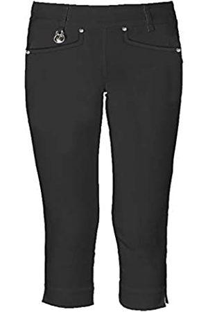 Island Green Bermudas de 4 vías elásticas para Mujer, Pantalones Cortos de Golf 3/4, Mujer, Pantalones de Golf, IGLSHO2083_BLK_S