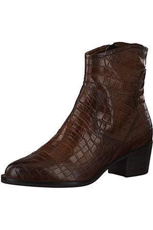 Marco Tozzi 2-2-25072-25 Leder Stiefelette, Botas Cortas al Tobillo para Mujer, Cognac A.Croco