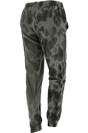 Freddy Pantalón de 100% algodón teñido a Mano de Efecto Camuflaje - Gray-Black Allover - Small