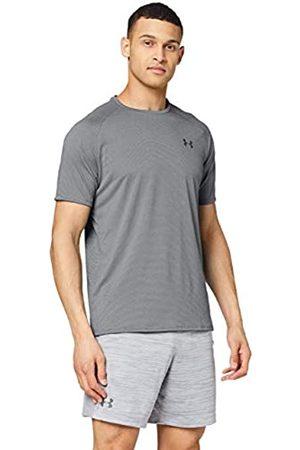 Under Armour UA Tech 2.0 SS Tee Novelty, camiseta para gimnasio, camiseta transpirable hombre, (Pitch Gray/Black (012))