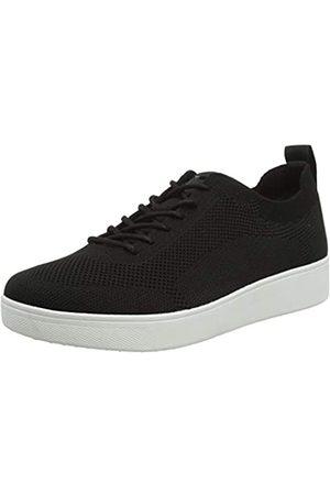 FitFlop Mujer Zapatillas deportivas - Rally Tonal Knit Sneakers, Zapatillas Mujer, 001-Black