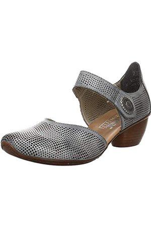 Rieker Frühjahr/Sommer 43767, Zapatos de Tacón Mujer, (White Denim 14)