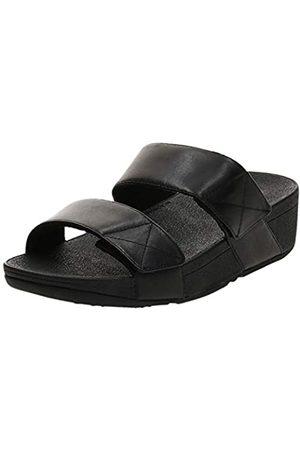 FitFlop Mujer Sandalias - Mina Slides, Sandalias de Punta Descubierta Mujer, Black (All Black 090)