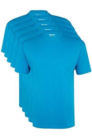 Ultrasport Maglia Sportiva per il Tempo Libero con Girocollo da 5 pezzi Camiseta de Manga Corta, Cuello Redondo, Lote de 5, Hombre