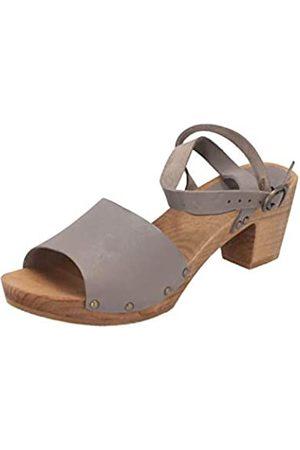 Sanita Yara Square Flex Sandal, Sandalia con Pulsera Mujer, (Grey)