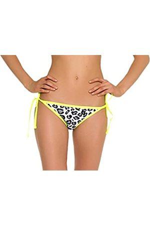 Glide Soul Bottom Bikini Mujer 0.5 MM con Encajes Leopard/Limón Pequeño