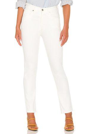 Citizens of Humanity Vaqueros rectos de cintura alta charlotte en color blanco talla 23 en - White. Talla 23 (también e