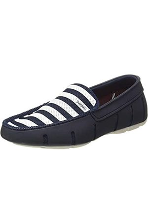 Swims Hombre Calzado formal - Braided Lace Loafer, Mocasines para Hombre, (Navy/White 048)