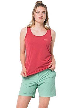 Jack Wolfskin Crosstrail Camiseta de Tirantes de Secado Rápido para Mujer, Tulipán