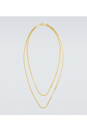 Orit Elhanati Collar de cadena doble con baño en oro