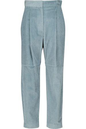 Brunello Cucinelli Pantalones de pana de tiro alto