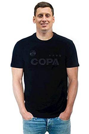 Copa Hombre Manga corta - All Black Logo T-Shirt Camiseta Cuello Redondo, Hombre