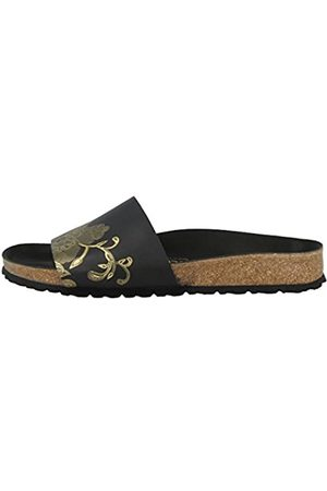 Papillio Mujer Zuecos - By Birkenstock Cora, Mules Mujer, (Ornaments Black/Gold Hex Ornaments Black/Gold Hex)