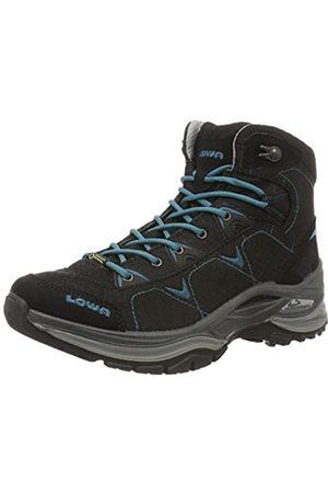 Lowa Ferrox GTX Mid WS, Zapatos de Senderismo Mujer, (Schwarz/Petrol)