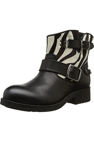 Koah Mujer Botas - Ronny, Botas Mujer, -Noir (Heavy Poney Zebra Black)