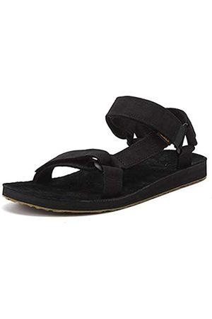 Teva Hombre Sandalias - Original Universal-Leather, Sandalias de Punta Descubierta Hombre, (Black Blk)