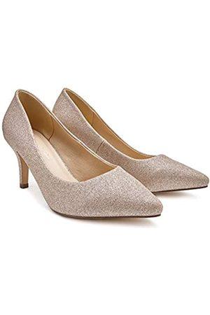 Paradox London Pink Mujer Tacón - LaVine, Zapatos de tacón con Punta Cerrada Mujer, (Champagne 225)