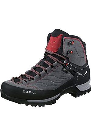 SALEWA Hombre Trekking - MS Mountain Trainer Mid Gore-TEX, Botas de Senderismo Hombre, (Charcoal/Papavero)