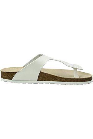 Les Tropéziennes par M Belarbi Mujer Zapatos - Paola, Chanclas Mujer, (Blanc Mat 82)