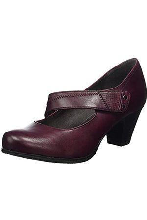 Soft Line Mujer Tacón - 24460, Zapatos de Tacón Mujer, (Bordeaux)