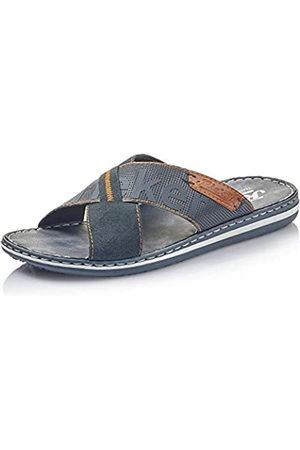 Rieker Hombre Sandalias - Hombre Zuecos 21098, de Caballero Mulas,Zapatilla,Sandalia,Zapato de Verano,Zapato Casual,Pazifik