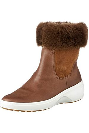 Ecco Mujer Botines - Soft 7 Wedge Tred Cocoa BrownCocoa Brown, Botas Chelsea Mujer, (Cacao )