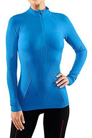 Falke Mujer Blusas - Warm Tight Fit Zip W L/S SH Camisa de Manga Larga, Mujer