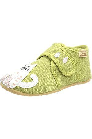 Living Kitzbühel Niña Zapatos - Babyklettschuh Katze & Regenschirm, Mule Niñas