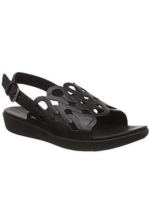 FitFlop Mujer Sandalias - Elodie Entwined Loops Back-Strap Sandals - Sandalia para Mujer, (Black)