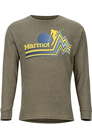Marmot Piste tee LS - Camiseta de Manga Larga para Hombre, Hombre, 42040-4480-3-S