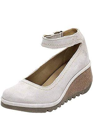 Fly London Mujer Tacón - Name194fly, Zapatos con Tacon y Correa de Tobillo Mujer, (Concrete 003)