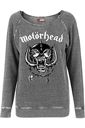 Merchcode Mujer Chaqueta de punto - Motörhead Burnout Open Edge - Sudadera con Cuello Redondo para Mujer, Mujer, MC002