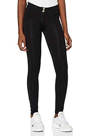 Freddy Mujer Leggings y treggings - Pantalón WR.UP® Pitillo de algodón elástico - Black - Small