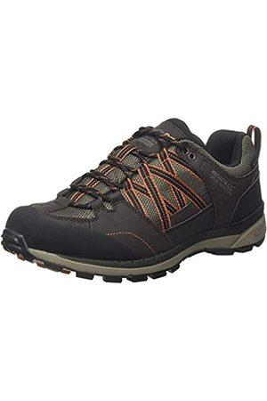 Regatta Samaris II Low' Waterproof Walking Shoes, Zapatillas de Senderismo Hombre, (Peat/Burnt Umbre Nfd)