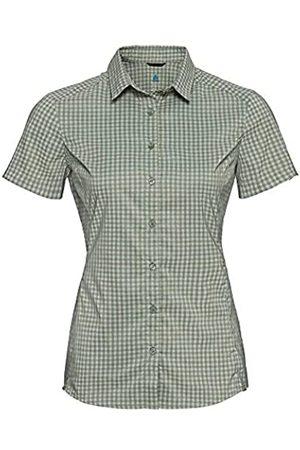 Odlo Camisa de Cuadros Kumano para Mujer, Color Mate, Espuma de mar