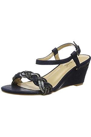 Lotus Mujer Tacón - Josephine, Zapatos de tacón con Punta Abierta, (Navy Ej)