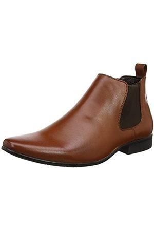 New Look Hombre Botines - PU Workwear Chelsea, Botas Hombre, (Tan 18)