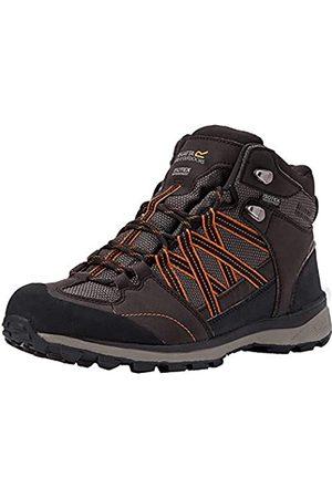 Regatta Hombre Trekking - Samaris II Mid, Walking Shoe Hombre, Peat/Gold Flame