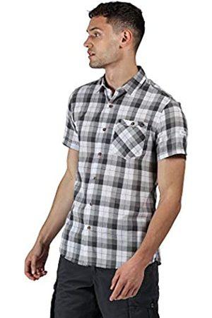 Regatta Hombre Casual - Ramiro-Camisa De Algodón Coolweave A Cuadros, con Cierre De Botones Y Manga Corta Shirts, Hombre
