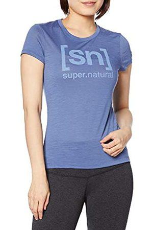 Supernatural Mujer Manga corta - Super.natural Camiseta Estampada de Manga Corta para Mujer, con Lana de Merino, W Essential I.D tee, Talla: XS