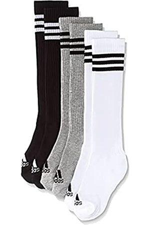 adidas Hombre Calcetines - 3S Knee HC 3Pp Calcetines, Hombre, (White/Black/Medium Grey Heather)