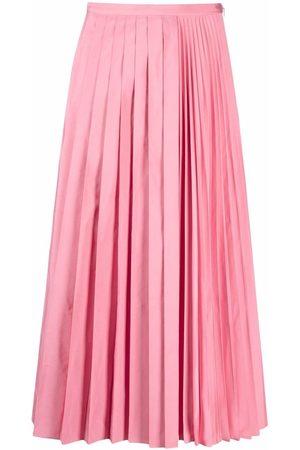 VALENTINO Mujer Midi - Falda midi plisada