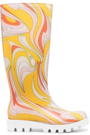 Emilio Pucci Botas de lluvia con estampado abstracto