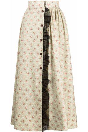 ULYANA SERGEENKO Vestido largo con estampado floral