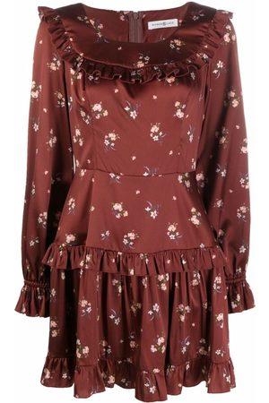Roses & Lace Mujer Estampados - Vestido corto de seda con estampado floral